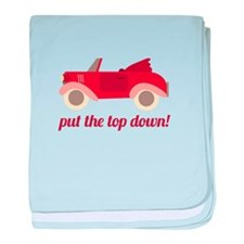 Put The Top Down! baby blanket