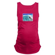 Surfer and Wave Maternity Tank Top