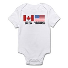 Engineered With American Parts Onesie