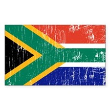 Vintage South Africa Rectangle Decal