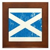 Vintage Scotland Framed Tile