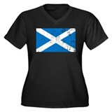 Vintage Scotland Women's Plus Size V-Neck Dark T-S