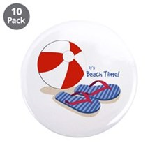 "Beach Time 3.5"" Button (10 pack)"