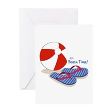Beach Time Greeting Cards