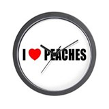 I Love Peaches Wall Clock