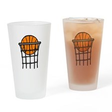 Ball in Basket Drinking Glass