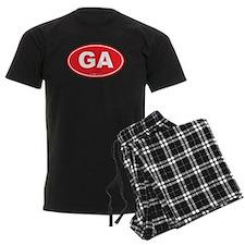 Georgia GA Euro Oval Pajamas