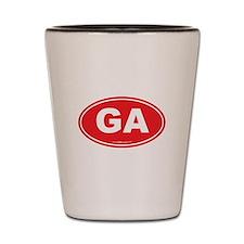 Georgia GA Euro Oval Shot Glass