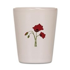 Bunch Of Poppies Shot Glass