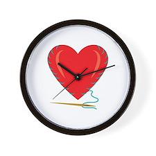 Sewing Heart Wall Clock