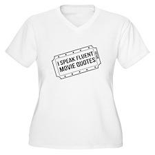 I Speak Fluent Movie Quotes Plus Size T-Shirt