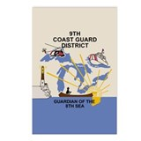 9th Coast Guard District &lt;BR&gt;8 Pack Of Postcards