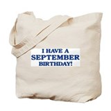 September birthday Tote Bag