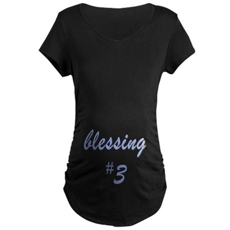 Blessing #3 Maternity Dark T-Shirt