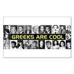 Greeks Are Cool! Rectangle Sticker
