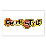Greek Style Rectangle Sticker