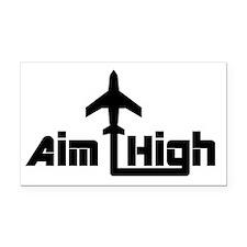 Aim High Rectangle Car Magnet