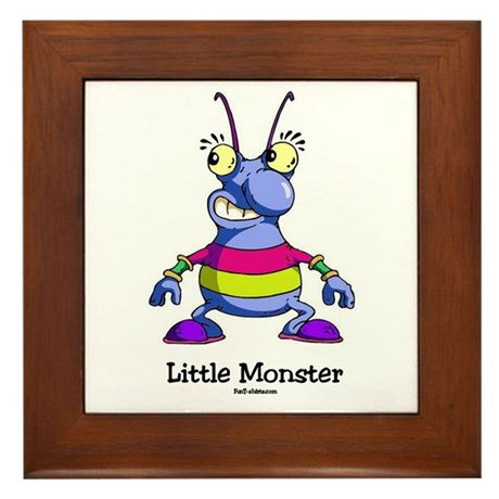 Little Monster Framed Tile