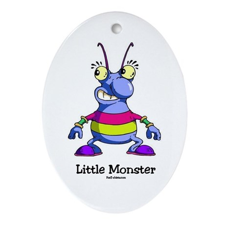 Little Monster Oval Ornament