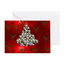 Merry Christmas Skulls Greeting Card