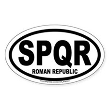 Roman Republic International Auto Decal