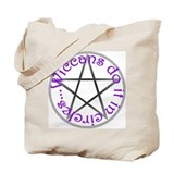 Wiccans - Purple Pent Tote Bag