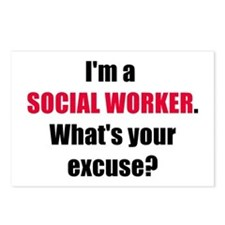 Social Work Excuse Postcards (Package of 8)