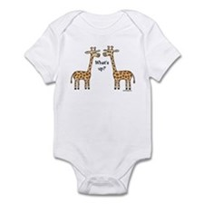 What's up? Giraffe Infant Bodysuit