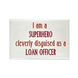 Superhero Loan Officer Rectangle Magnet (10 pack)