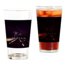 Lightening on NJ Turnpike Drinking Glass