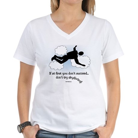 No Skydiving Women's V-Neck T-Shirt
