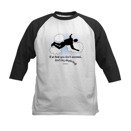 No Skydiving Kids Baseball Jersey