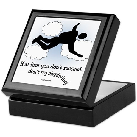 No Skydiving Keepsake Box