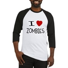 I Love Zombies Baseball Jersey