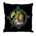 Dragon Handler Throw Pillow