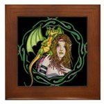 Dragon Handler Framed Tile
