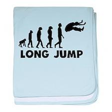 Long Jump Evolution baby blanket