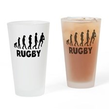 Rugby Evolution Drinking Glass