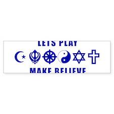 LetsPlayMakeBelieveBlue Bumper Car Sticker