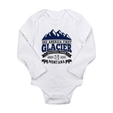 Glacier Vintage Long Sleeve Infant Bodysuit