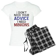 Advice Versus Minions pajamas