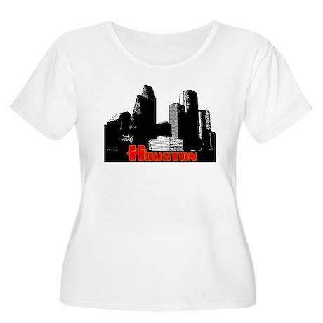 Houston Skyline Women's Plus Size Scoop Neck Tee