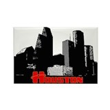 Houston Skyline Rectangle Magnet