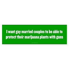 Gay Married Pot Plant Defense Bumper Bumper Sticker