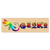 Rainbow Gecko Bumper Sticker