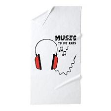Music To My Ears Beach Towel