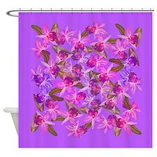 Cattleya Orchid Flowers Shower Curtain