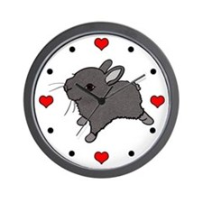 I (Heart) Bunnies! Wall Clock