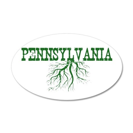 Pennsylvania Roots 35x21 Oval Wall Decal