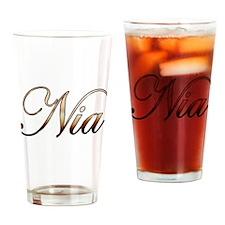 Funny Nia Drinking Glass